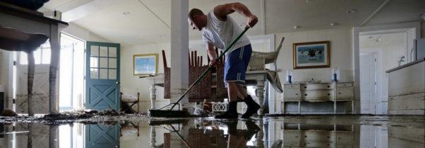 уборка после потопа